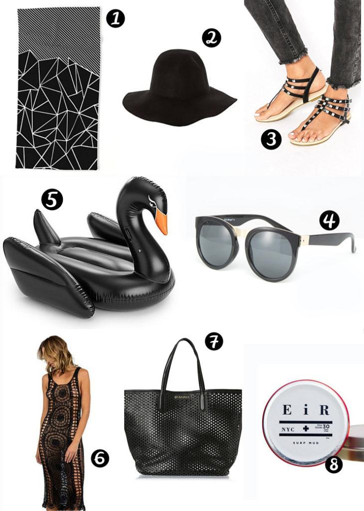 dark beach and resort fashion